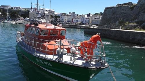 Yachting Club de Belle Isle exercice de securité SNSM 56